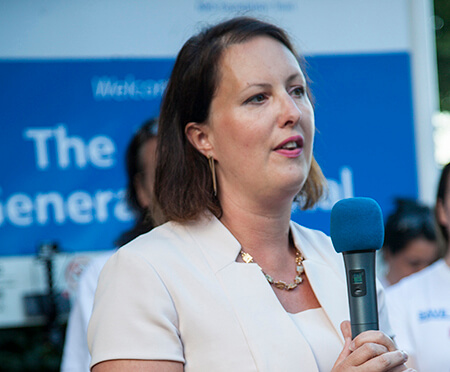 Victoria Prentis speaking at a Horton rally in July 2016