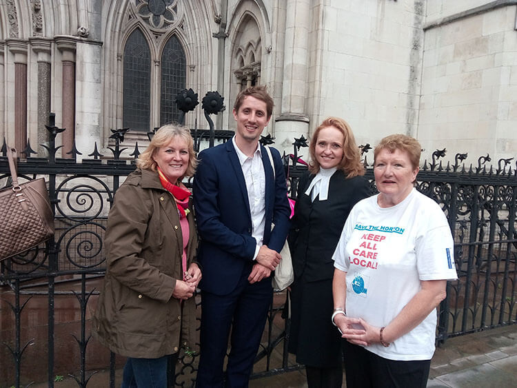KTHG and Banbury Guardian representatives at the Royal Courts of Justice, 5 September 2017