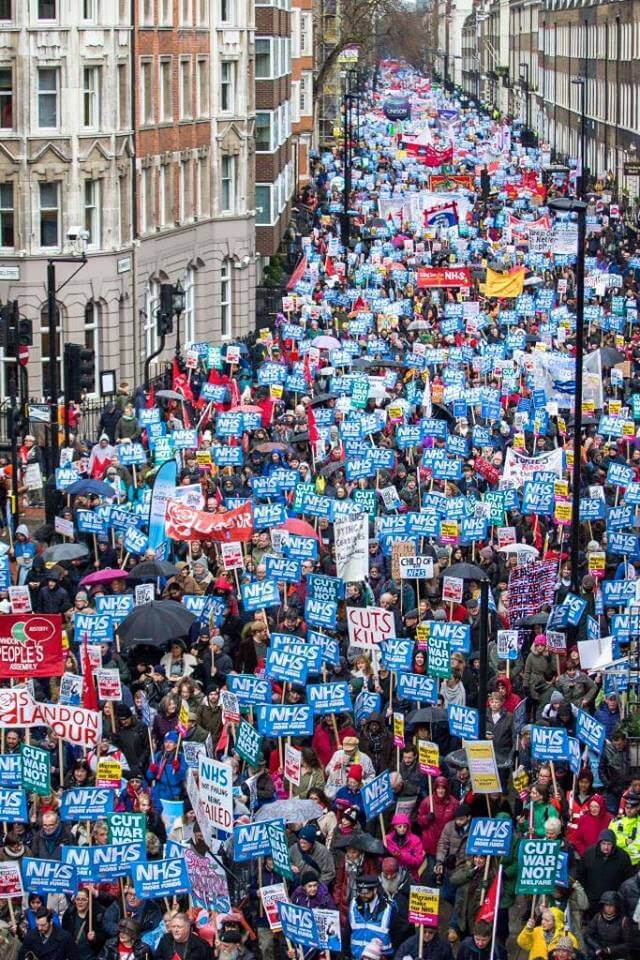 NHS in Crisis protest, London, 3 February 2018