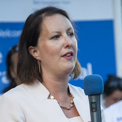Victoria Prentis MP speaking at a Horton rally in 2016.