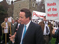 david cameron meets campaigners, 16 Jan 2007