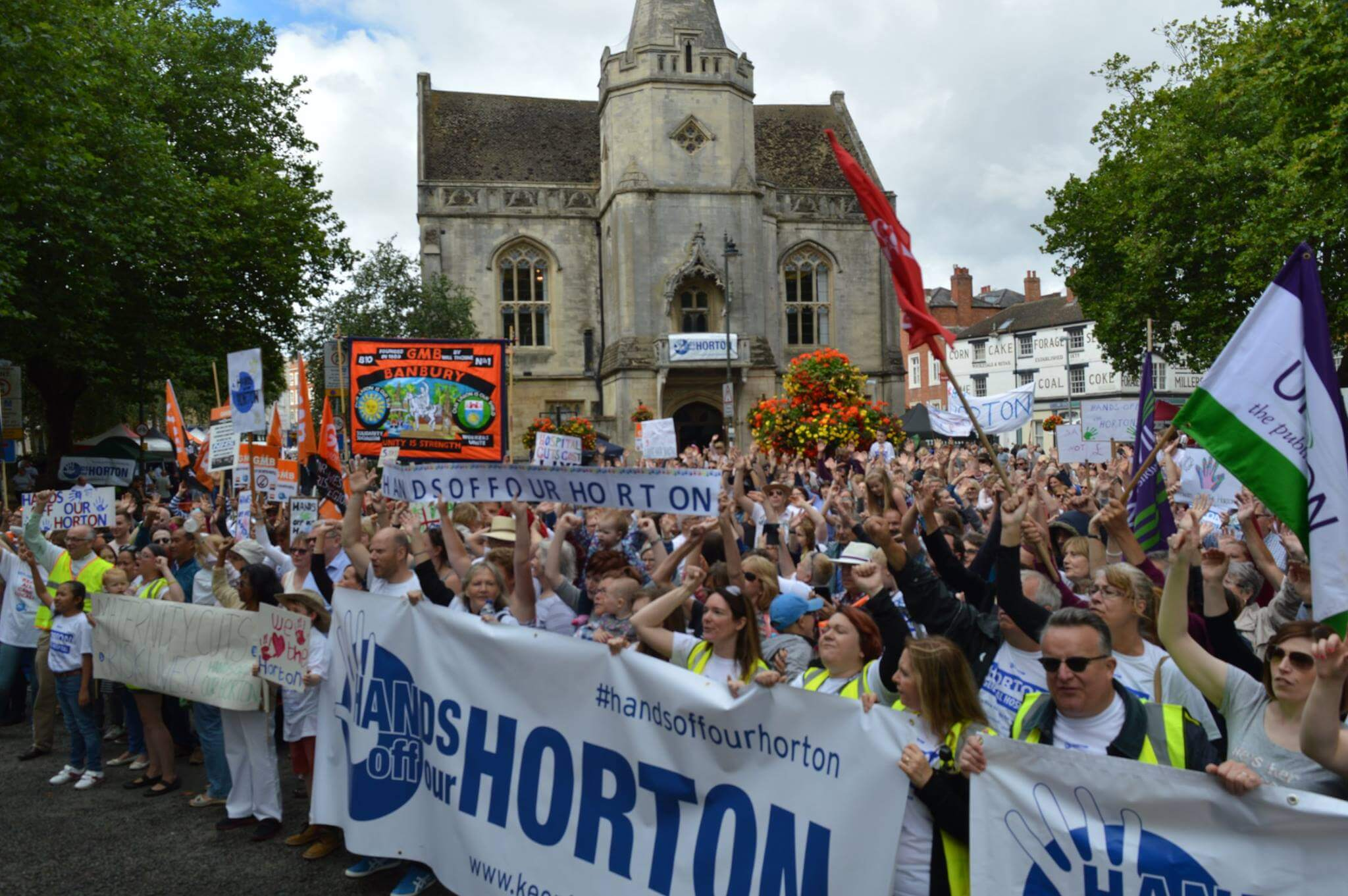 Hands Around the Horton protest 21 Aug 2016