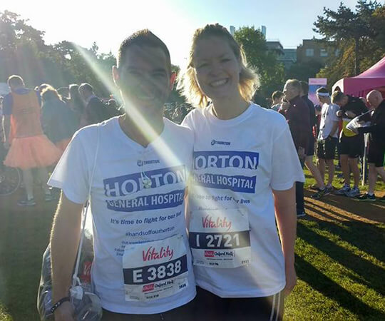 marathon runners Gemma Gilbert and partner