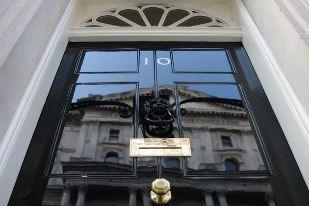 Front door of No.10 Downing Street