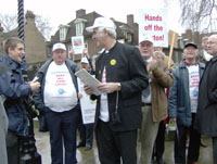 george and campaigners at westminster, 16 Jan 2007